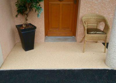 Résines de sols extérieures, entrée