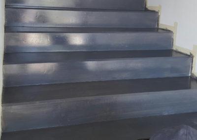 Résines de sols extérieures, escalier
