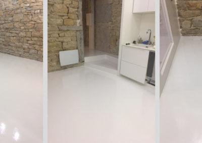 Résines de sols intérieures, cuisine & salon