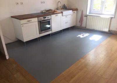 Résines de sols intérieures, cuisine