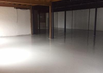 Résines de sols intérieures, entrepôt