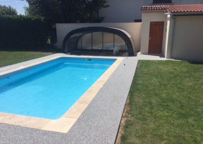 Résines de sols extérieures, plage piscine