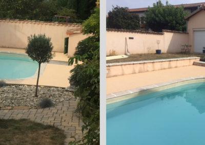 Résines de sols extérieures, plage piscine & cour
