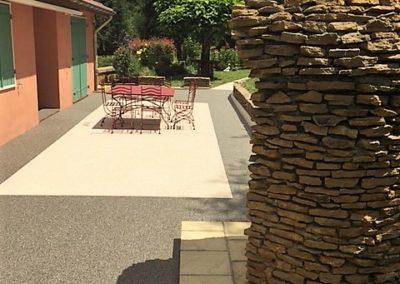 Résines de sols extérieures, terrasse