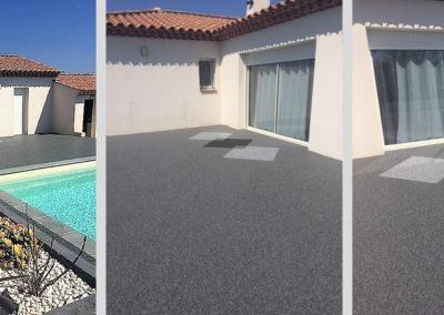 Résines de sols extérieures, plage piscine & terrasse décorative