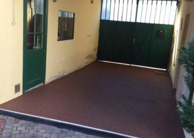 Résines de sols extérieures, entrée carrossable