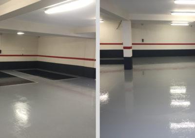 Résines de sols intérieures, garage