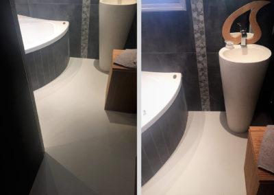 Résines de sols intérieures, salle de bains