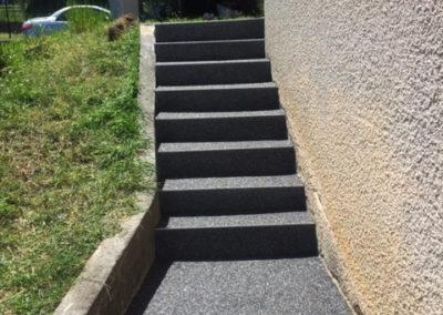 Moquette résine - escaliers