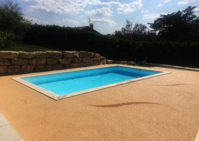 Moquette résine - piscine