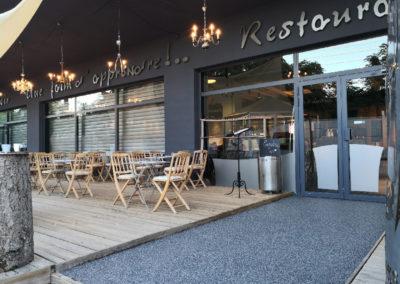 Résine de sol restaurant
